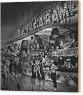 Carnival - Game-a-rama Wood Print by Mike Savad