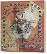 Carnival Boy Wood Print