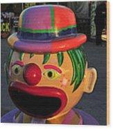 Carnival Clown Wood Print