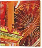 Carnival Lights  Wood Print by Garry Gay