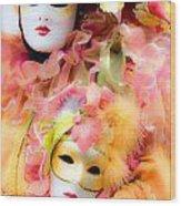 Carnival Mask Wood Print