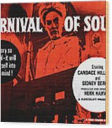 Carnival Of Souls, British Quad Poster Wood Print by Everett
