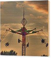 Carnival Ride Wood Print