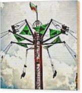Carnival Swings Wood Print