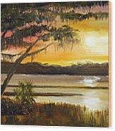 Carolina Sunset Wood Print