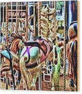 Carousel 7 - Fractals Wood Print