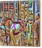 Carousel 7 Hdr Wood Print