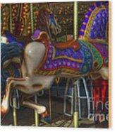 Carousel Beauties Going Away Wood Print