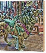Carousel Color Wood Print