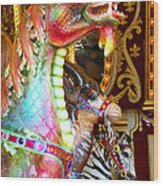 Carousel Dragon Wood Print