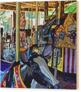 Carousel Fun Wood Print