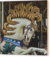 Carousel Horse - 4 Wood Print