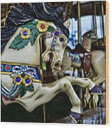 Carousel Horse 5 Wood Print by Paul Ward