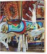 Carousel Horse With Fish Wood Print