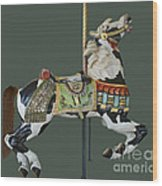 Carousel Paint Horse Wood Print
