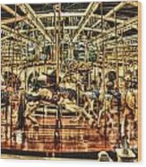 Carousel With Horses Wood Print