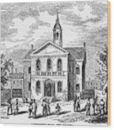 Carpenters Hall, 1855 Wood Print