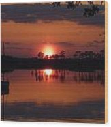 Carrabelle Sunset Wood Print