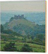 Carreg Cennen Castle Wood Print