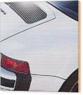 Carrera Porsche White Backend  Wood Print