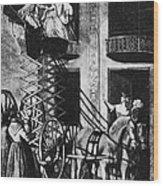 Carriage Cartoon, 1776 Wood Print