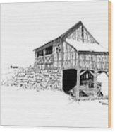 Carriage House Wood Print by Donald Black