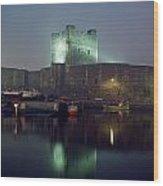 Carrickfergus Castle & Harbour, Co Wood Print