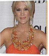 Carrie Underwood Wearing A Jenny Wood Print by Everett