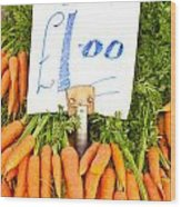 Carrots Wood Print by Tom Gowanlock