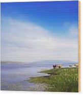 Carrowmore Lake, Co Mayo, Ireland Wood Print