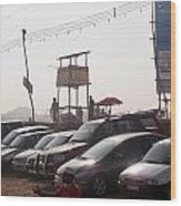 Cars In A Parking Lot At Surajkund Wood Print