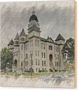 Carthage Courthouse Wood Print