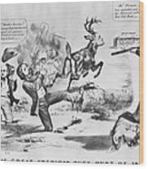 Cartoon: Election Of 1856 Wood Print by Granger
