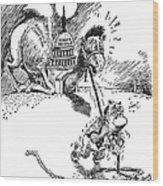 Cartoon: New Deal, 1937 Wood Print