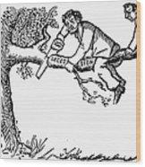 Cartoon: Secession, 1861 Wood Print