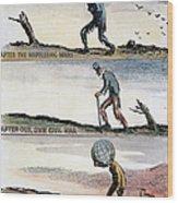 Cartoon: World Wars, 1932 Wood Print