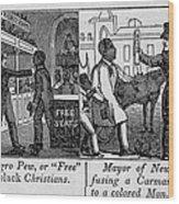 Cartoons Depicting The Racial Wood Print
