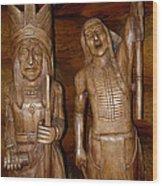 Carved American Indians Wood Print