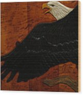 Carved Eagle Wood Print