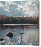 Cary Lake Wood Print by David Patterson