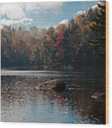 Cary Lake In The Adirondacks Wood Print