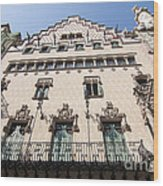 Casa Amatller Building Barcelona Wood Print by Matthias Hauser