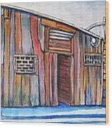 Casa De Madera Granada Wood Print