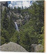 Cascade Falls Yosemite National Park Wood Print