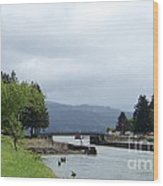 Cascade Locks Wood Print