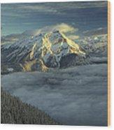 Cascade Mountain Banff Wood Print