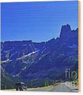 Cascade Mountain Range Wood Print