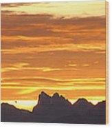Cascade Mountains Sunrise 1 Wood Print
