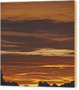 Cascade Mountains Sunrise 2 Wood Print