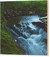 Cascades Before The Falls Wood Print
